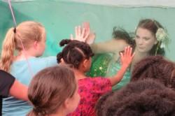 Mermaid Alexis amazes the kids at Beach Party Weekend in Leonardtown