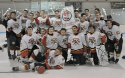 Southern Maryland Sabres Midget U-18 ice hockey team won its division championship