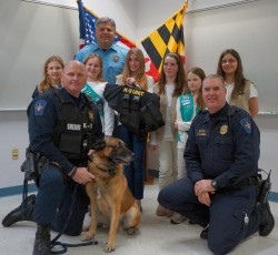 Girl Scouts donate ballistic K9 vest