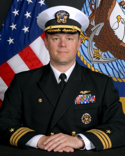 Navy Cmdr. David S. Brinson from Lexington Park