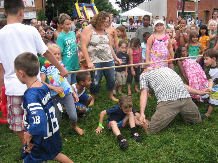 Doing the Limbo at Beach Party Weekend in Leonardtown
