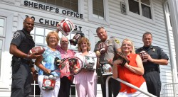 Republican Women of Calvert Donate Sporting Gear to Local Police