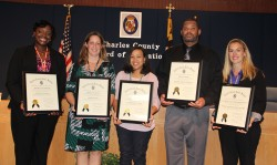 Charles County Board of Education Honors Staff
