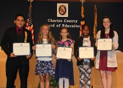 Charles County Board of Education Recognizes Outstanding Students