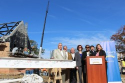 St. Mary's College Commemorates Last Beam Installed in Newest Campus Facility