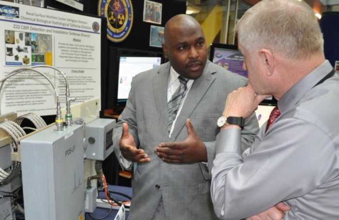 NSWCDD chemist Tim Anthony explains the Navy's shipboard chemical warfare agent detector