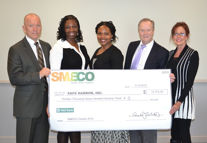 SMECO Donates $13,774 to Safe Harbor in Calvert County