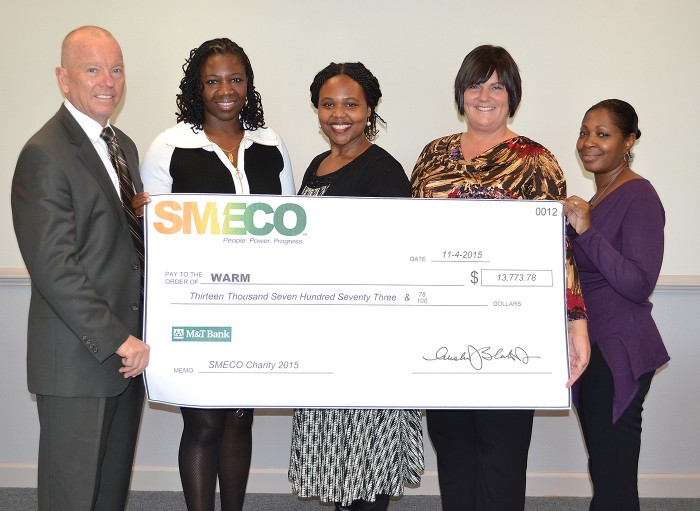 SMECO Donates $13,774 to WARM in St. Mary's County