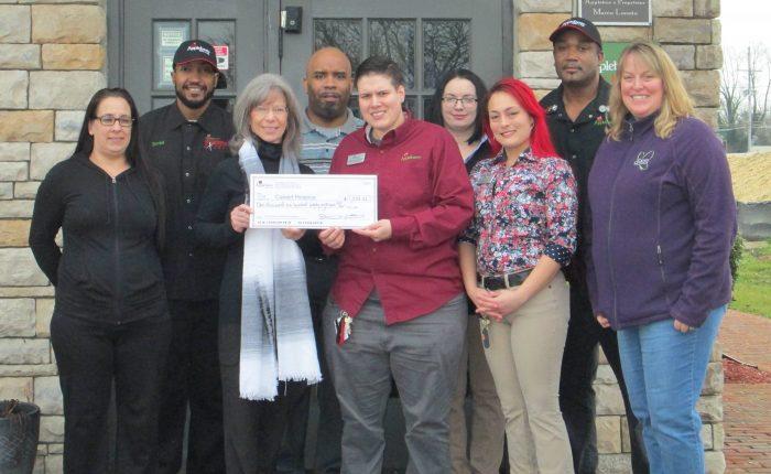 Applebee's Donates $1,288.32 to Calvert Hospice